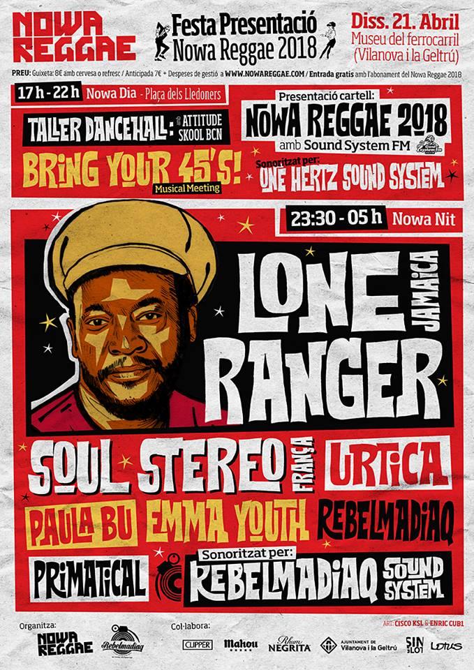 cartell de la festa de presentació del Nowa Reggae 2018