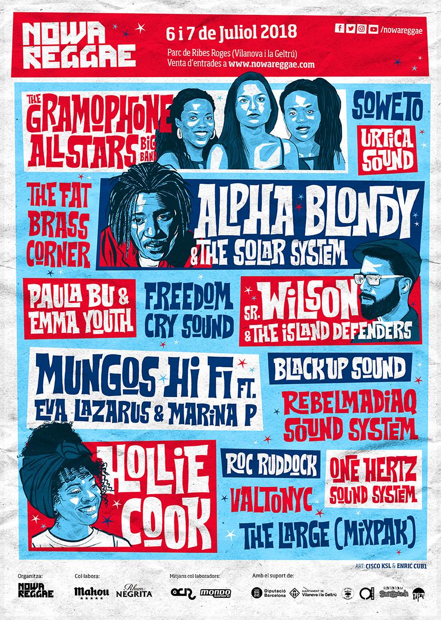 cartell nowa reggae festival 2018